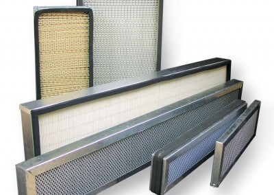 Panel filters manufactured in the UK by Microtech Filters Ltd
